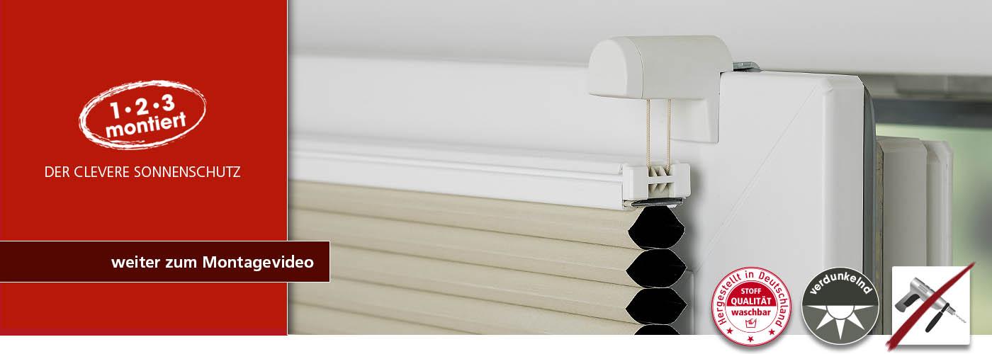LiedecoKlima® Klemmfix Thermo-Plissee freihängend